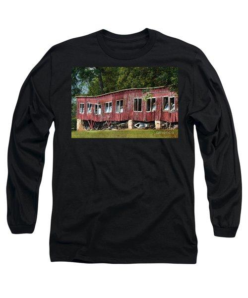 Wavy Abandoned Storage Barn Long Sleeve T-Shirt
