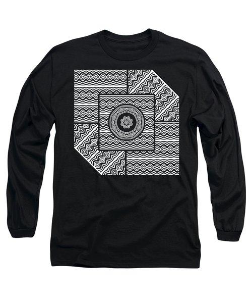 Wavy Panels Long Sleeve T-Shirt