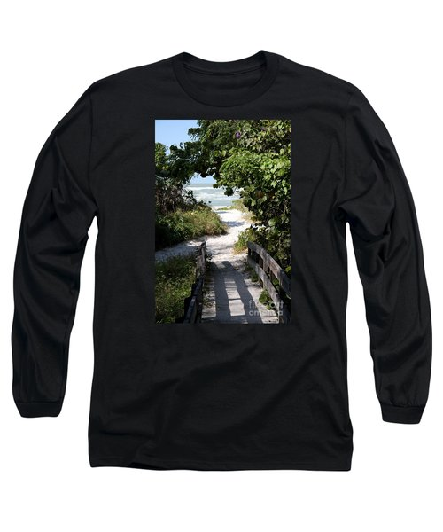 Way To The Beach Long Sleeve T-Shirt by Christiane Schulze Art And Photography