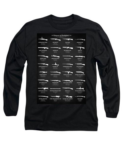 Long Sleeve T-Shirt featuring the digital art Weapons Of Battlefield 1 by Taylan Apukovska