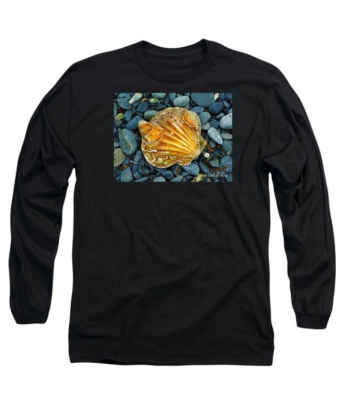 Weathered Scallop Shell Long Sleeve T-Shirt by Judi Bagwell