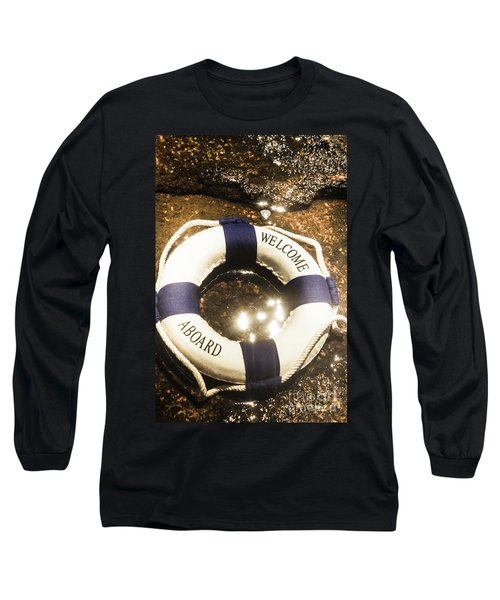 Welcome Aboard Nautical Paradise Long Sleeve T-Shirt