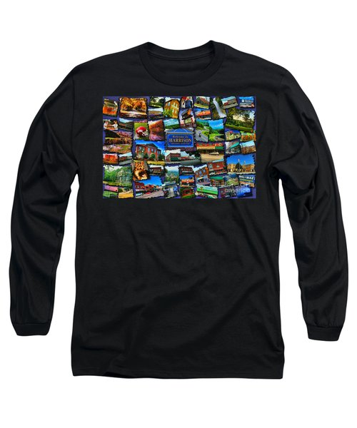 Long Sleeve T-Shirt featuring the digital art Welcome To Harrison Arkansas by Kathy Tarochione