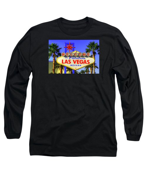 Welcome To Las Vegas Long Sleeve T-Shirt by Anthony Sacco