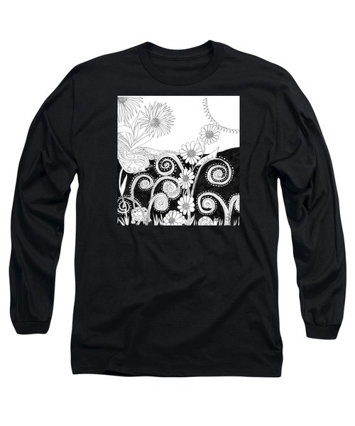 Long Sleeve T-Shirt featuring the painting Welcome To Our World by Lou Belcher