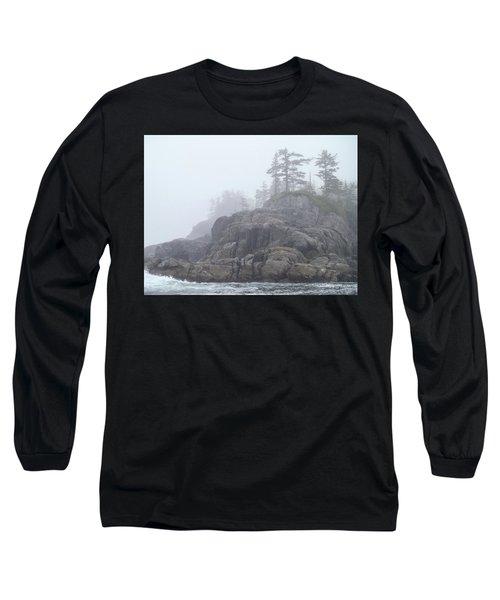 West Coast Landscape Ocean Fog I Long Sleeve T-Shirt