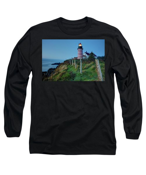 West Quoddy Head Light Long Sleeve T-Shirt