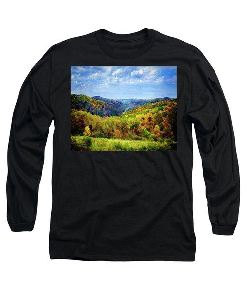 West Virginia Long Sleeve T-Shirt by Mark Allen