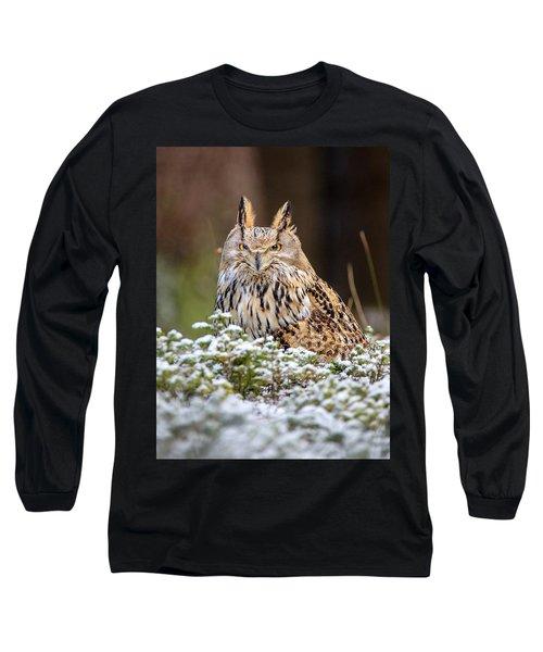 Western Siberian Owl Long Sleeve T-Shirt