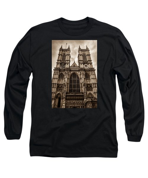 Westminister Abbey Sepia Long Sleeve T-Shirt
