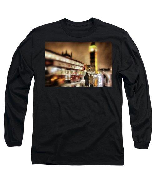 Westminster Bridge In Rain Long Sleeve T-Shirt