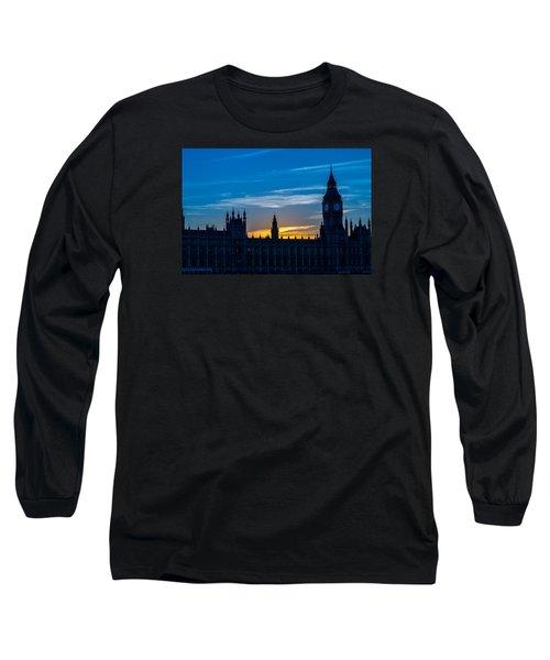 Westminster Parlament In London Golden Hour Long Sleeve T-Shirt
