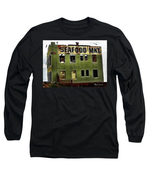 Long Sleeve T-Shirt featuring the photograph Westport Washington Seafood Market by Sadie Reneau