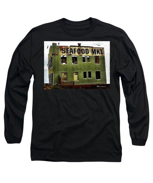Westport Washington Seafood Market Long Sleeve T-Shirt by Sadie Reneau