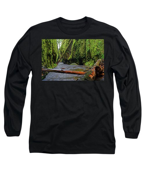 Long Sleeve T-Shirt featuring the photograph Wet Trail by Jonathan Davison