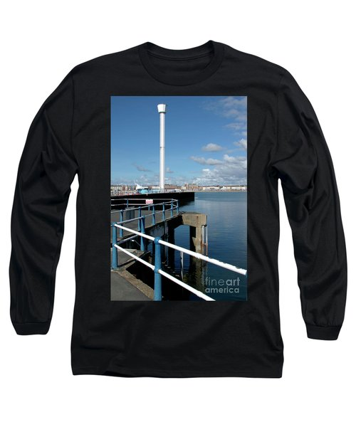 Weymouth Pavillion Pier And Tower Long Sleeve T-Shirt by Baggieoldboy