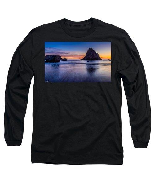 Whaleshead Beach Sunset Long Sleeve T-Shirt