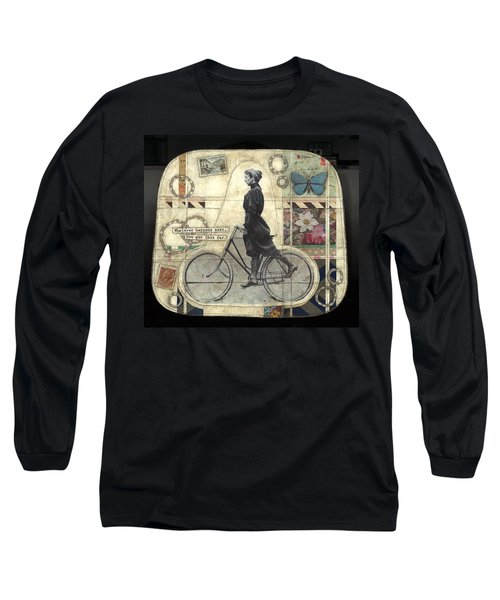 Long Sleeve T-Shirt featuring the painting Whatever Happens by Casey Rasmussen White