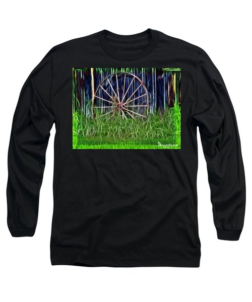 Wheel Of Fortune Long Sleeve T-Shirt by EricaMaxine  Price