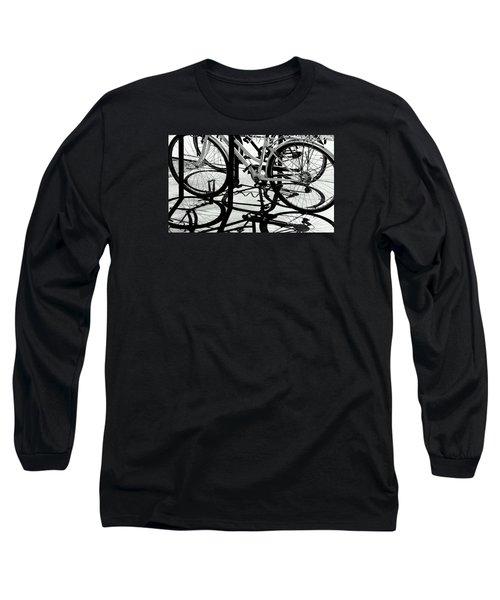Wheels Long Sleeve T-Shirt by David Gilbert
