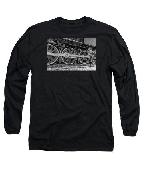 Long Sleeve T-Shirt featuring the photograph Wheels On A Locomotive by Sue Smith