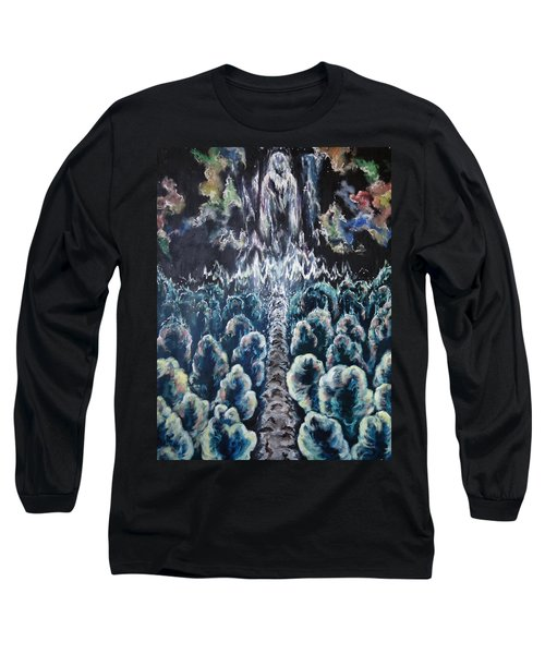 Long Sleeve T-Shirt featuring the painting When The Journey Is Done by Cheryl Pettigrew