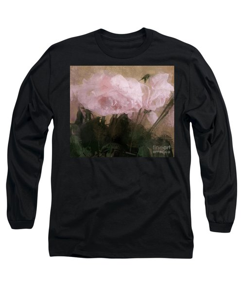 Whisper Of Pink Peonies Long Sleeve T-Shirt by Alexis Rotella