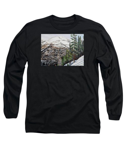 Long Sleeve T-Shirt featuring the painting Whispering Pines by Marilyn  McNish