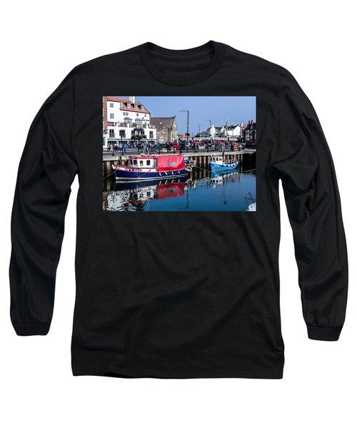 Whitby Harbor, United Kingdom Long Sleeve T-Shirt