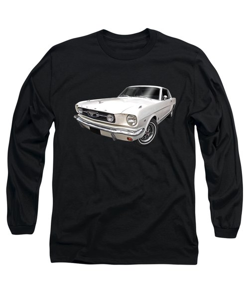 White 1966 Mustang Long Sleeve T-Shirt
