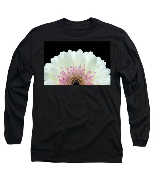 White And Pink Daisy Long Sleeve T-Shirt