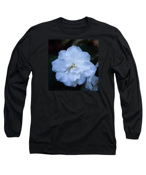 White As Snow Begonia Long Sleeve T-Shirt
