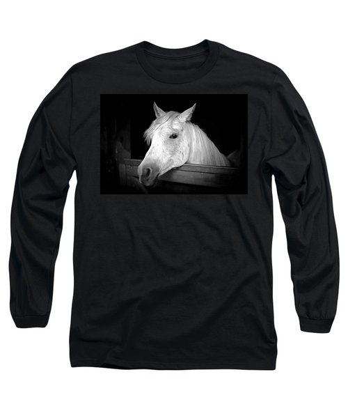 Long Sleeve T-Shirt featuring the photograph White Beauty by Marion Johnson