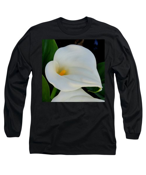 White Cala Lily Long Sleeve T-Shirt