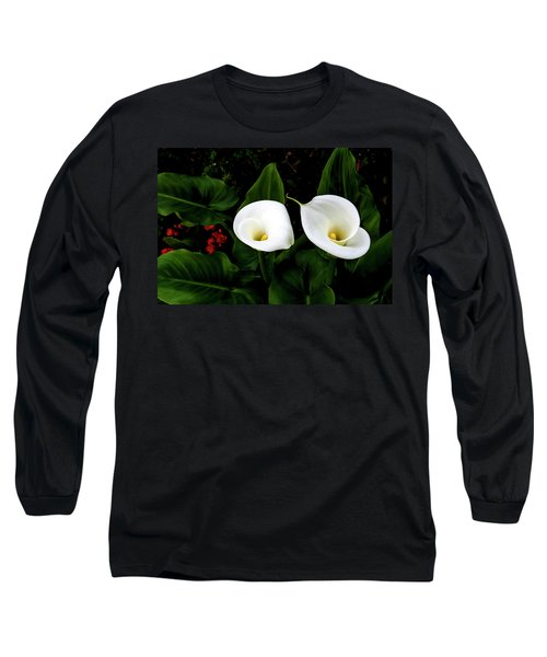 White Calla Lily Long Sleeve T-Shirt