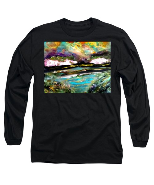 White Cliffs At Sunset Long Sleeve T-Shirt
