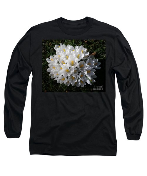 White Crocuses Long Sleeve T-Shirt