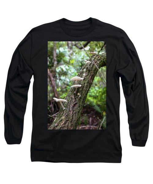 White Deer Mushrooms Long Sleeve T-Shirt