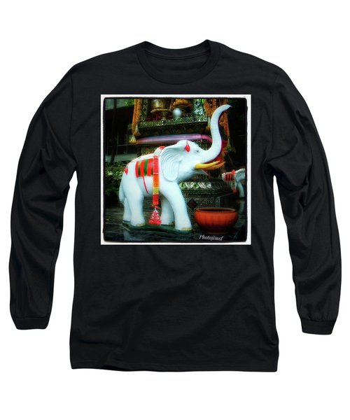 Long Sleeve T-Shirt featuring the photograph White Elephant. Meaning A Big Expensive by Mr Photojimsf
