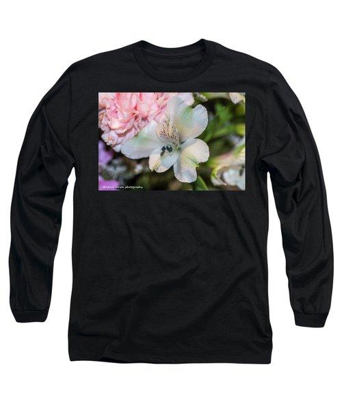 White Flower Long Sleeve T-Shirt by Nance Larson