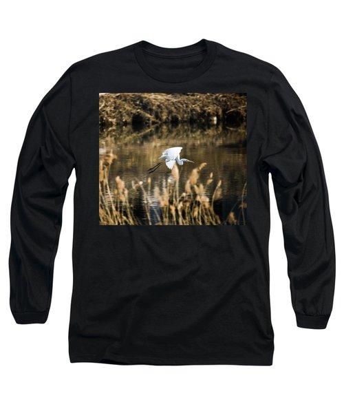 White Heron Long Sleeve T-Shirt