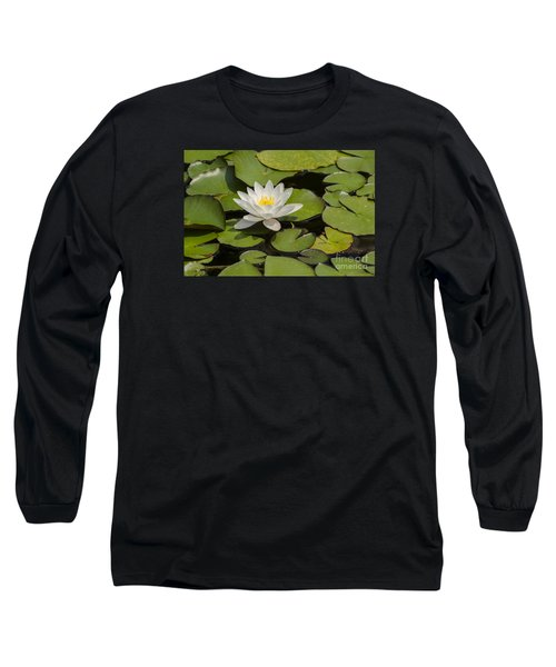 Long Sleeve T-Shirt featuring the photograph White Lotus Flower by JT Lewis