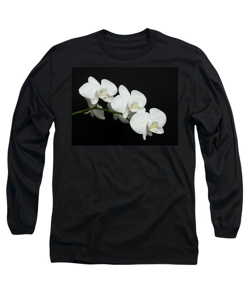 White On Black Long Sleeve T-Shirt