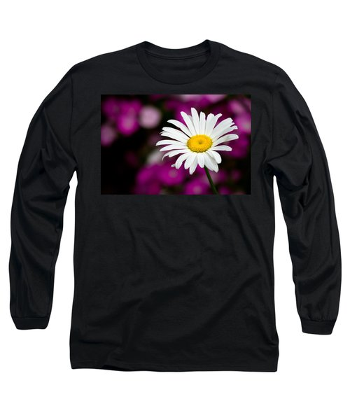 White On Pink Long Sleeve T-Shirt