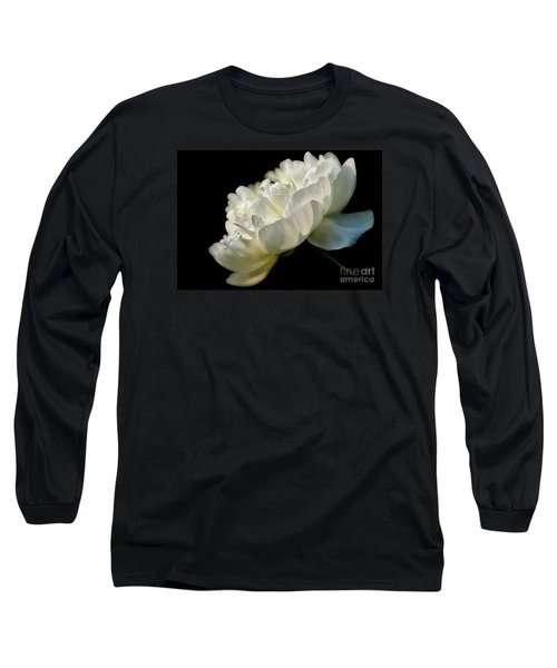 White Peony In The Light Long Sleeve T-Shirt
