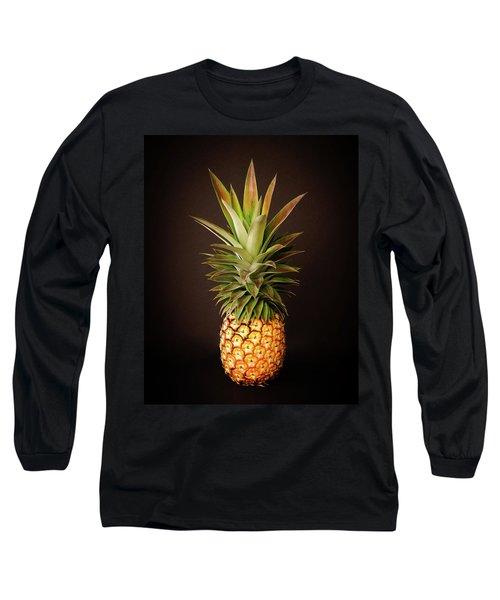 White Pineapple King Long Sleeve T-Shirt