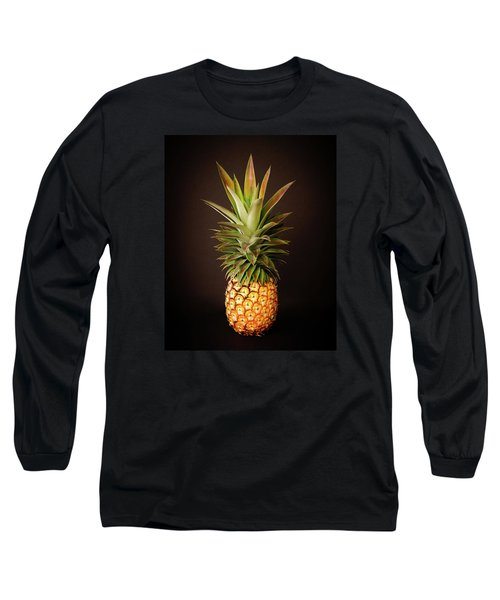 White Pineapple King Long Sleeve T-Shirt