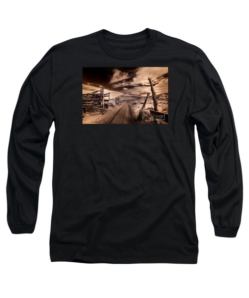 White Pocket Corral Long Sleeve T-Shirt by William Fields