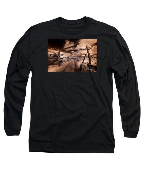 White Pocket Corral Long Sleeve T-Shirt