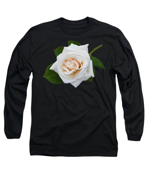 Long Sleeve T-Shirt featuring the photograph White Rose by Jane McIlroy